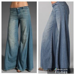Free People Extreme Flare Raw Edge Pants
